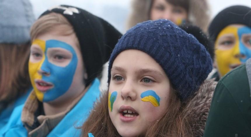 Ukrainians celebrating Unity Day