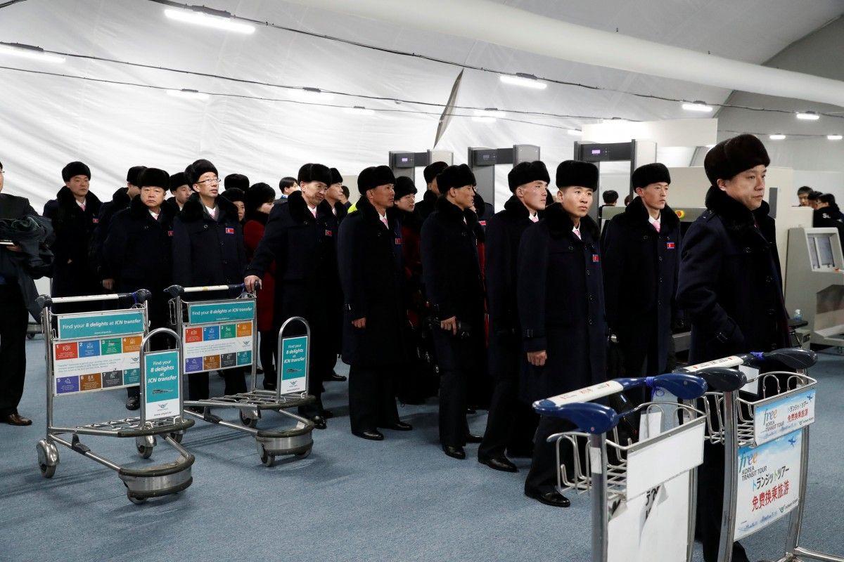 Спортсмены КНДР прибыли в Пхенчхан / REUTERS