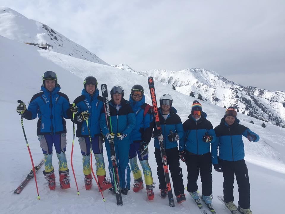 Украинские спортсмены на сборах в Казахстане / фото Ukraine Alpine Ski team, Facebook