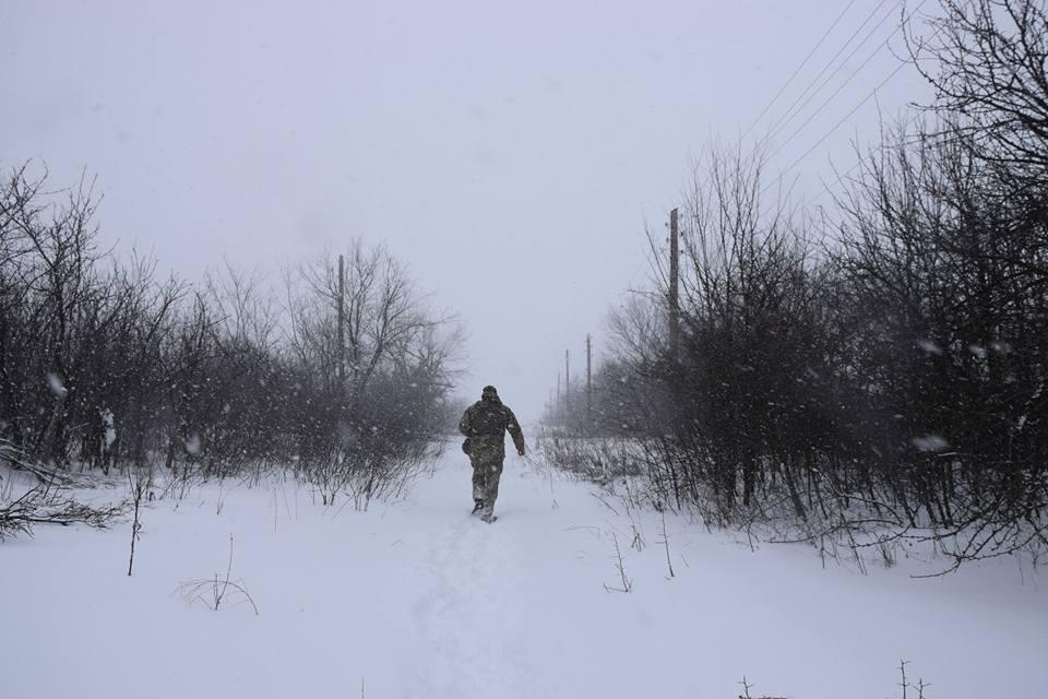 Также позиции украинских войск были обстреляны в районе хутора Свободный \ фото Лана Борисова, Facebook