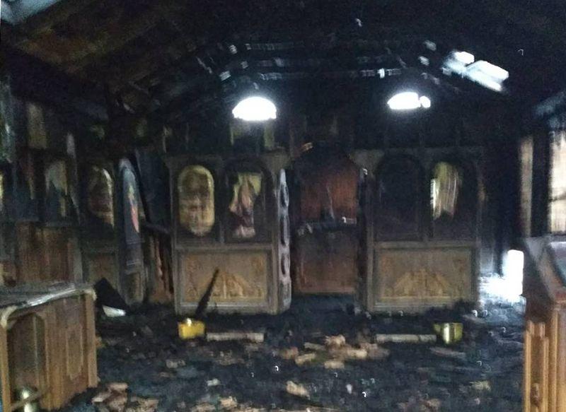 Наслідки підпалу у храмі / upc.lviv.ua