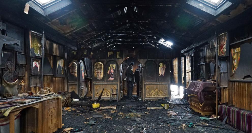 Храм після пожежі / upc.lviv.ua