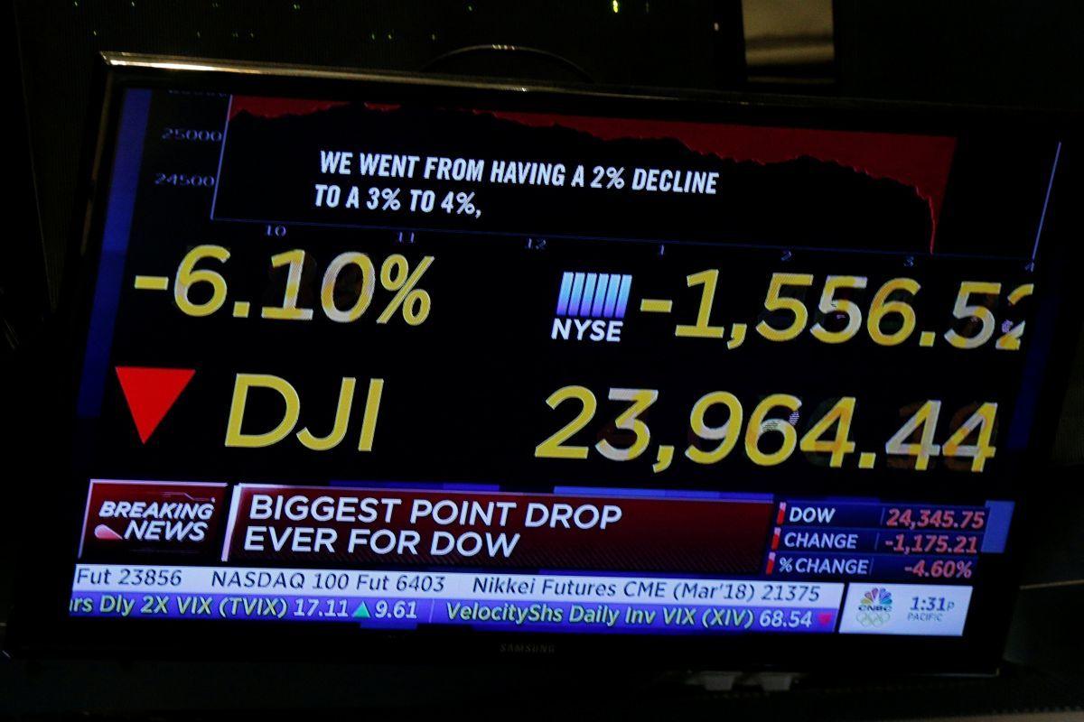 В ході торгів Dow Jones опускався більш ніж на 1500 пунктів / REUTERS