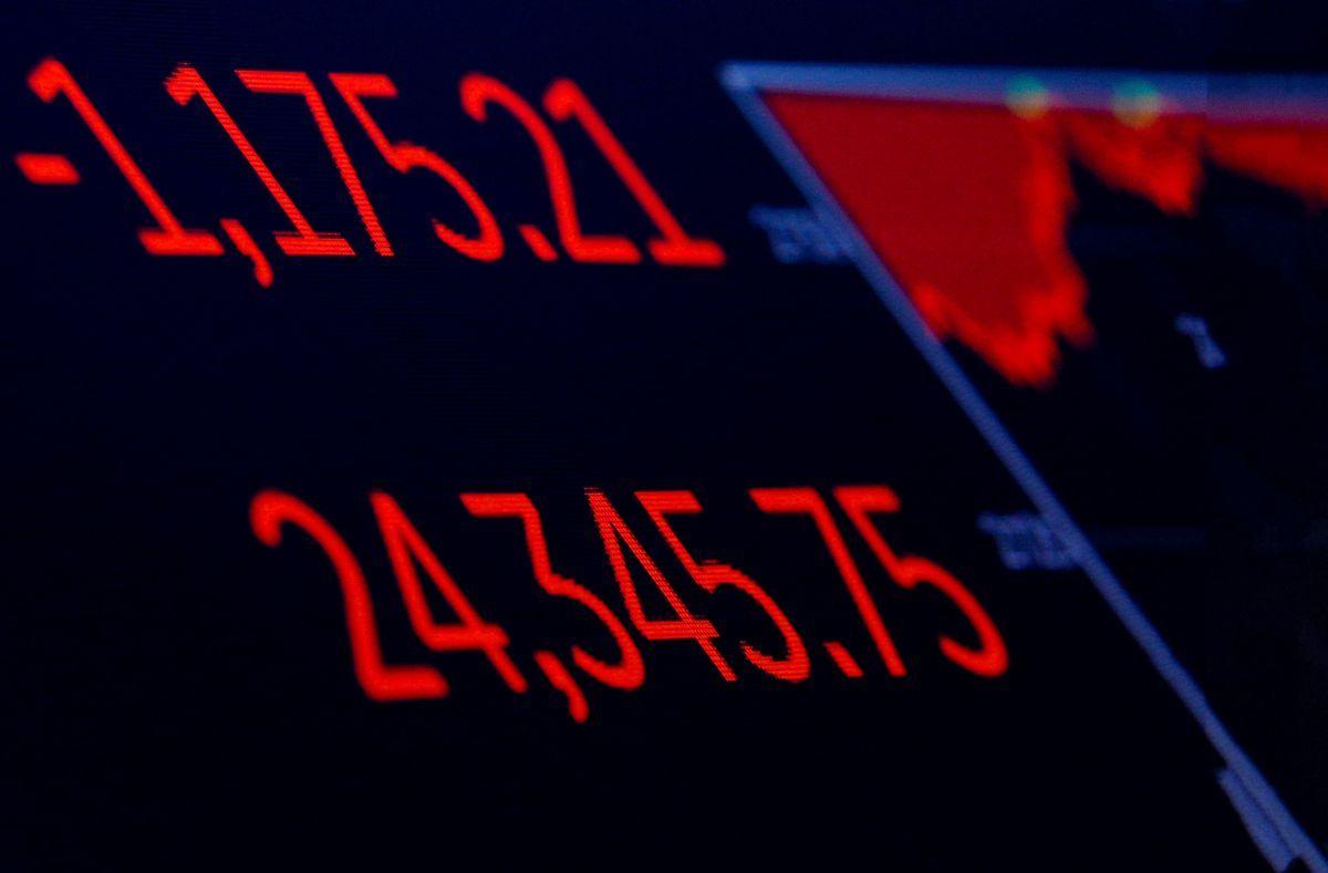Dow Jones втратив 4,6%, склавши 24345,75 пункта / REUTERS