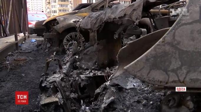 В Одесі знову горіли автомобілі / кадр з відео ТСН