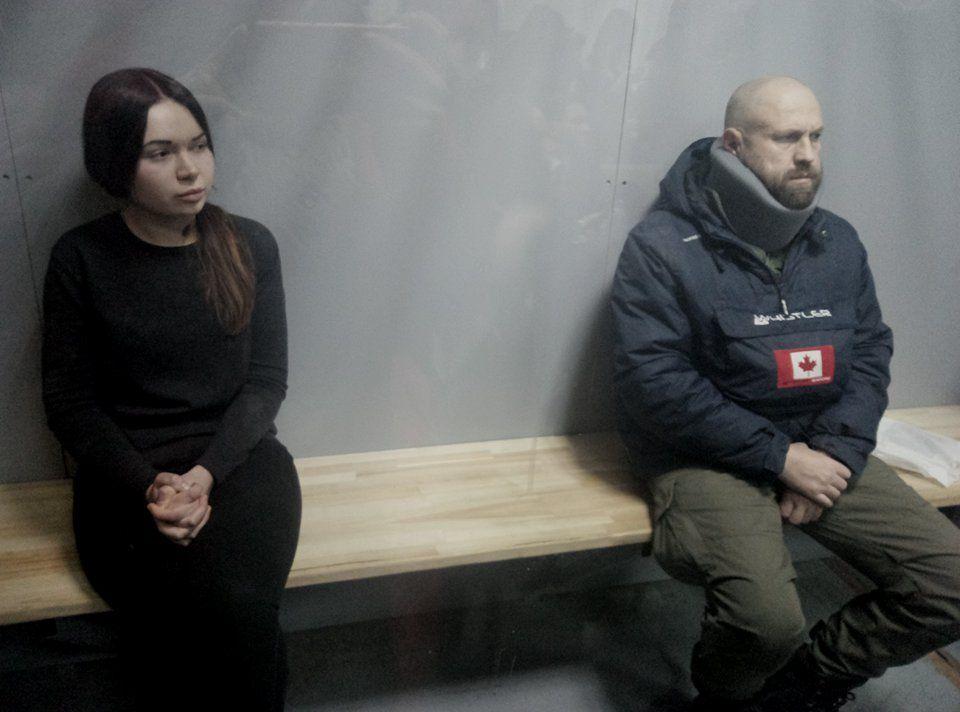 Зайцева и Дронов находятся в суде / фото newsroom.kh.ua