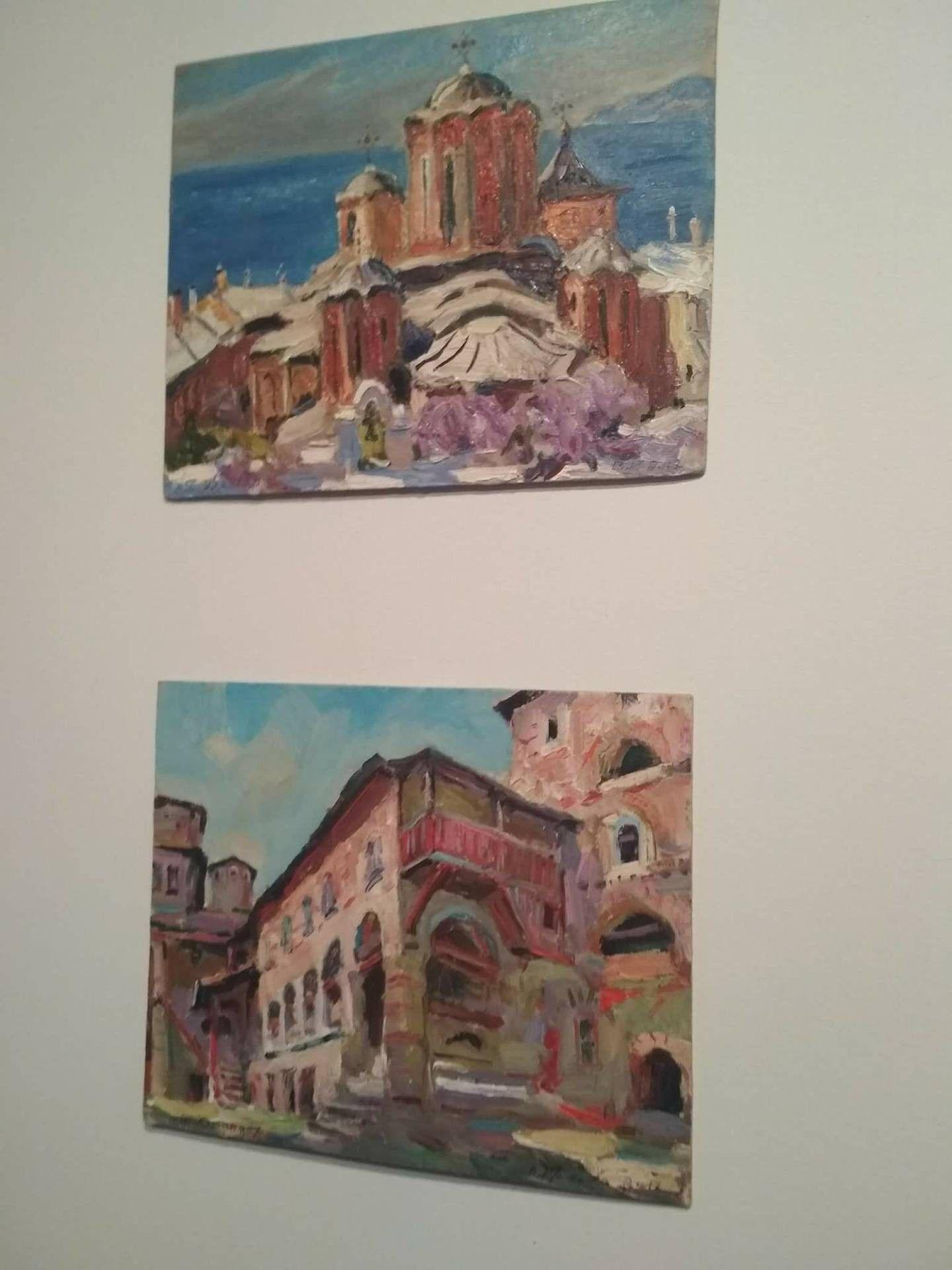 В коллекции представлены 20 монастырей, столица Афона и два скиты