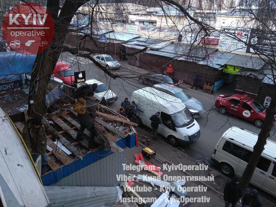 На Караваєвих Дачах зносять МАФи / Facebook, Київ оперативний