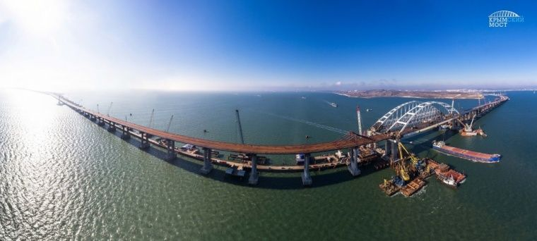 Строительство моста перешагнуло двухлетний рубеж / фото most.life