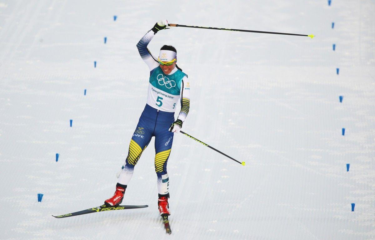 Первую золотую медаль Олимпиады вПхенчхане завоевала лыжница изШвеции