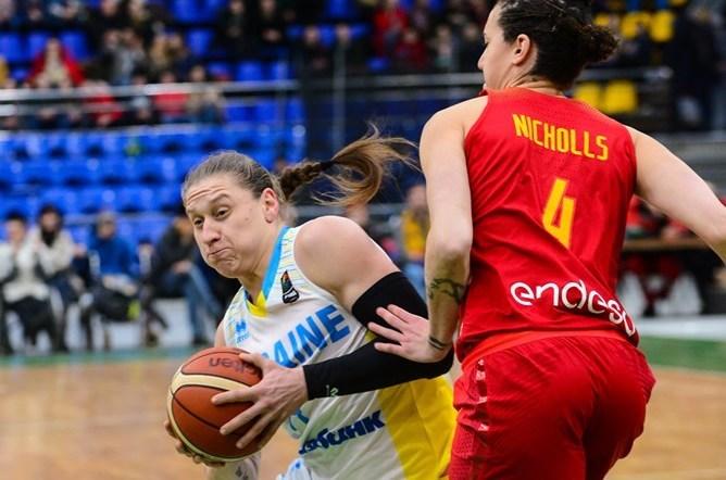 Алина Ягупова набрала 20 очков в матче против сборной Испании / fbu.ua