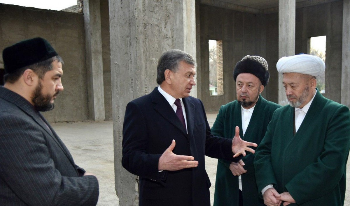 Президент Узбекистана лично контролирует строительство мечети / president.uz