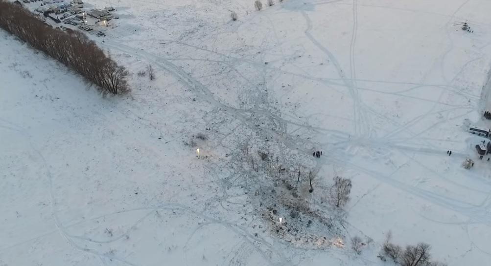 Самолет упал вблизи жилых домов / Скриншот