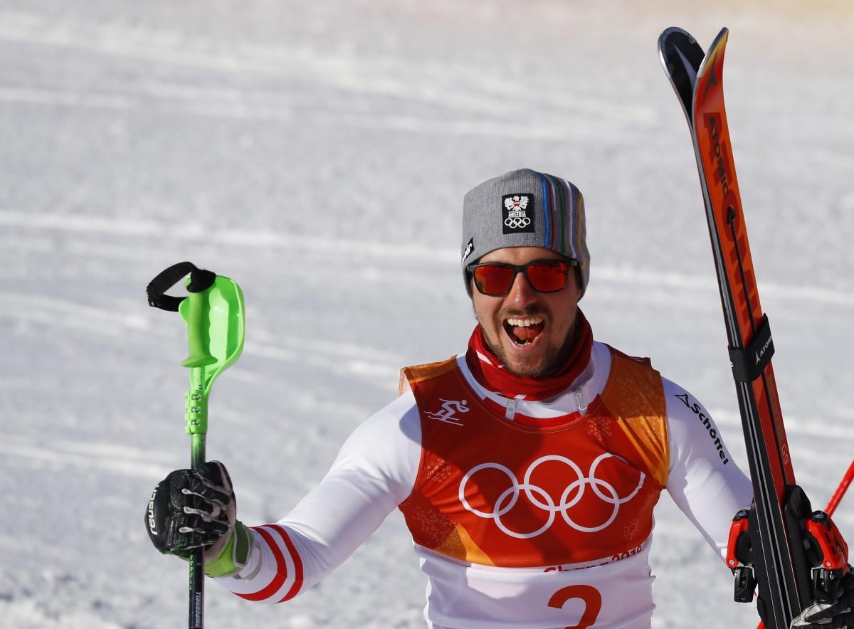 Хиршер совершил прорыв с 12-го места после скоростного спуска / Reuters