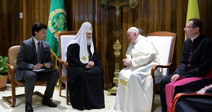 Зустріч Папи Римського і Патріарха Кирила, 12 лютого 2016 року / ru.sputnik-news.ee
