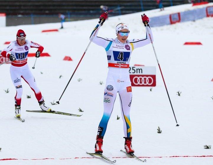 Стина Нильссон выиграла женский спринт в Пхенчхане / Лыжный Спорт