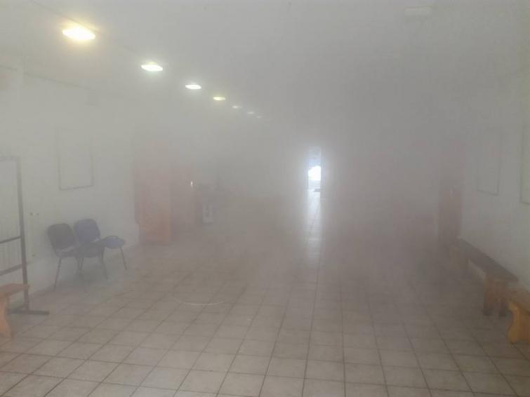 Музей Гончара залило горячей водой / Фото Марии Пошивайло