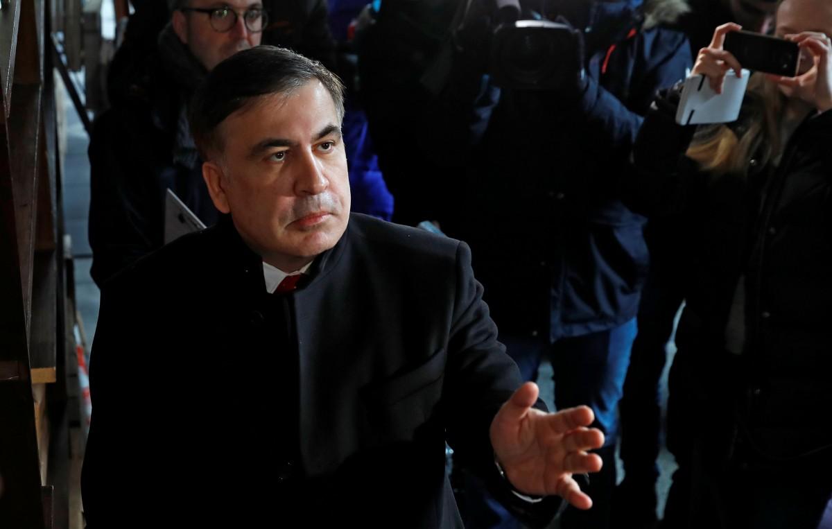 Михеил Саакашвили в Варшаве / REUTERS