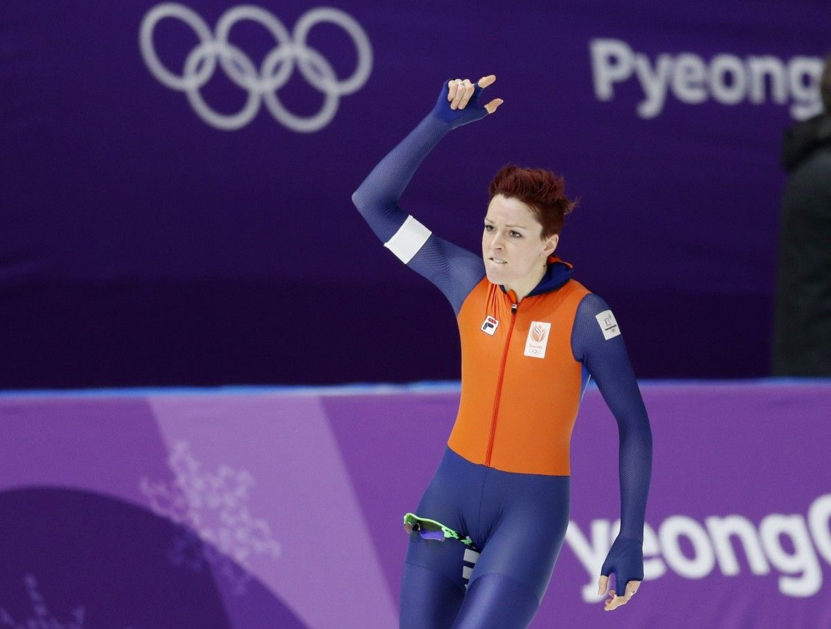 Тер Морс завоювала для Нідерландів п'яте золото в ковзанярському турнірі Пхенчхнана / Reuters