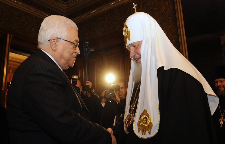 Президент Палестини Махмуд Аббас і патріарх Московський і всієї Русі Кирил (архів) / tass.ru