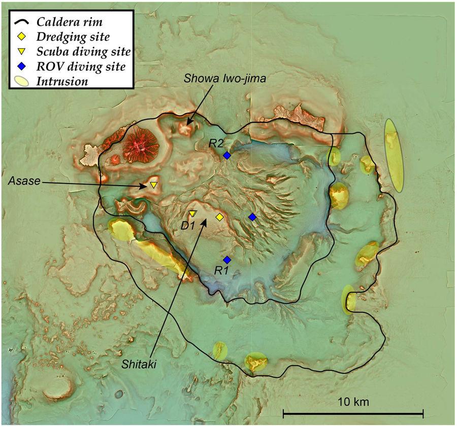 Карта расположения супервулкана / www.nature.com