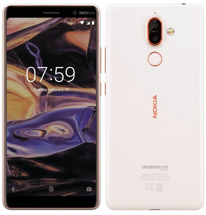На рендерах смартфон показан в сером и белом вариантах с оранжевыми акцентами / ferra.ru