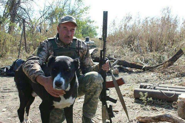 Пес сержанта сидел рядом с ним / Фото из соцсетей