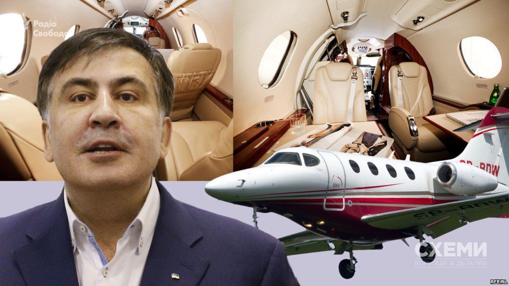 Тайный Санта: кто арендовал элитный чартер для Саакашвили