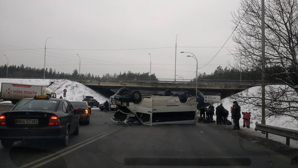 Есть пострадавшие вследствие аварии / фото facebook.com/groups/Vyshgorod946