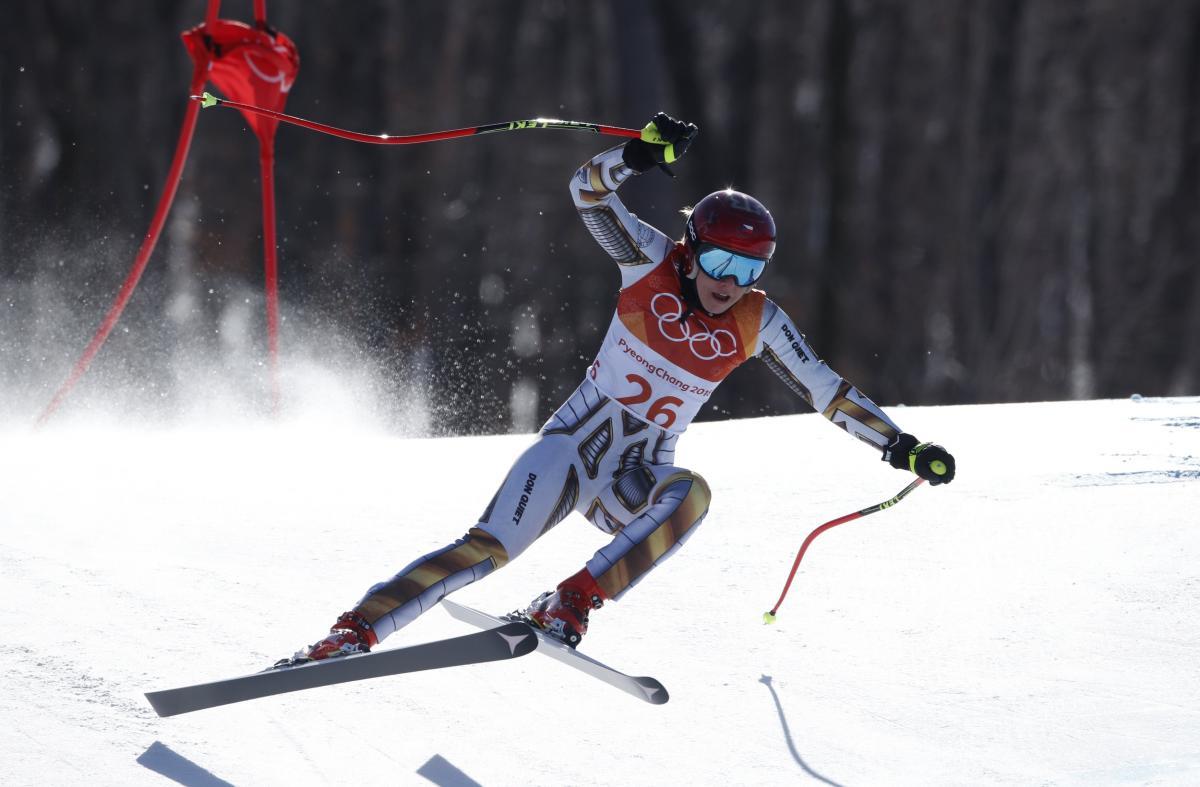 Эстер Ледецкая из Чехии выиграла золото Олимпиады в горнолыжном супергиганте / Reuters