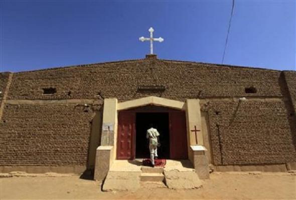 Приходская церковь Барака в Хадж-Юсуфе, на окраине Хартума, Судан, 10 февраля 2013 года / reuters.com