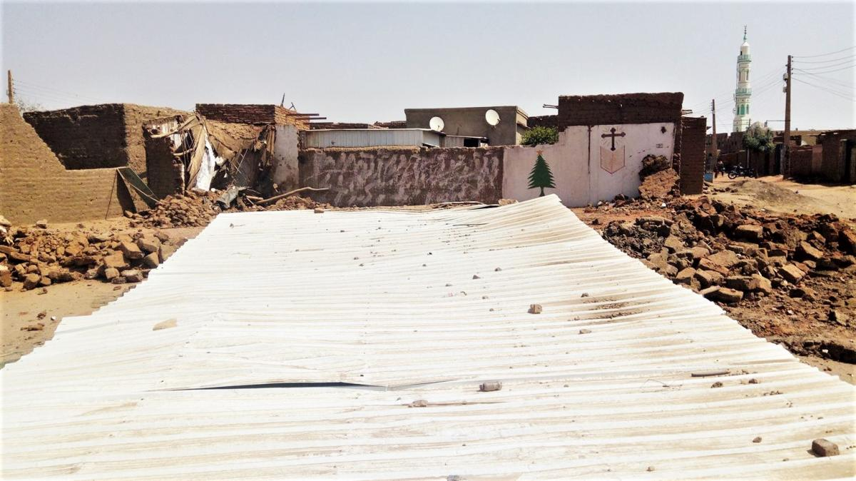 Знесена євангельська церква в Аль-Хадж-Юсифе, Північний Хартум, Судан / morningstarnews.org