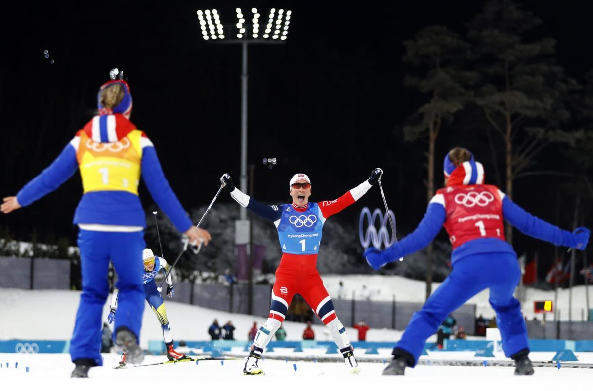 Норвежская лыжница Бьорген сравнялась сБьорндаленом почислу наград  назимнихОИ