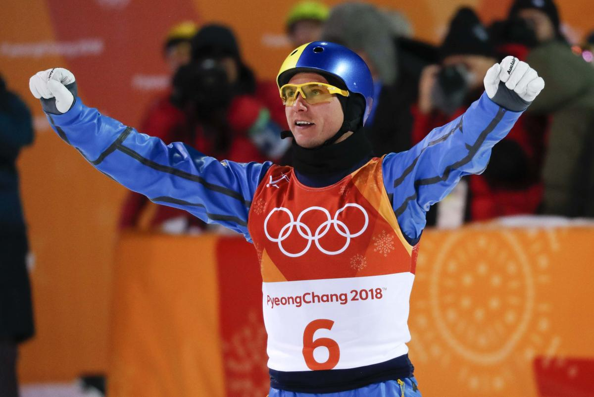 Russian Freestyle Skier Wins Bronze in Men's Aerials at Pyeongchang Olympics