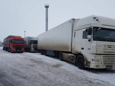 Фіксується певне накопичення вантажівок