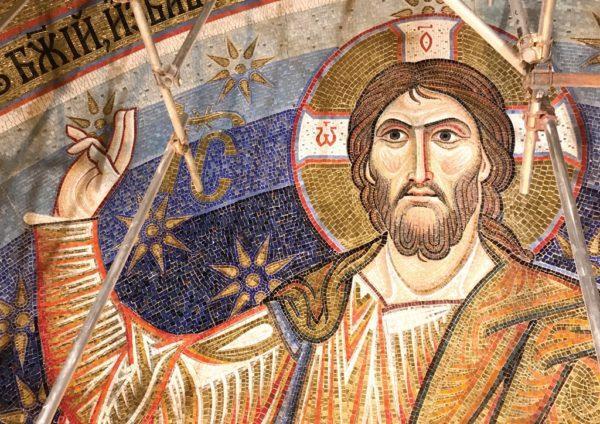 Закончена работа над мозаикой купола главной церкви Белграда / Российская академия художеств