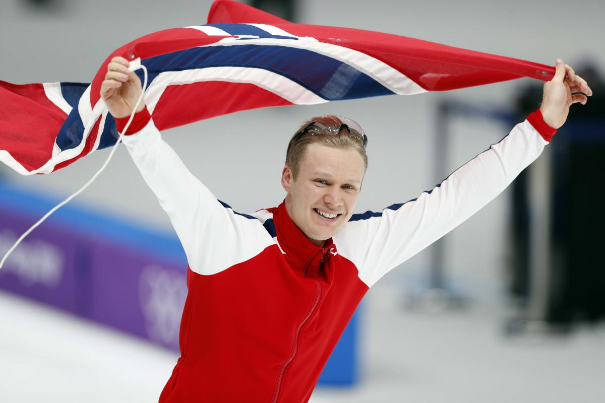 Ховард Лорентсен - олимпийский чемпион в конькобежном спорте / REUTERS