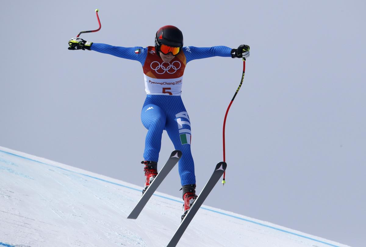 Итальянская горнолыжница София Годжа— олимпийская чемпионка Пхёнчхана-2018 вскоростном спуске