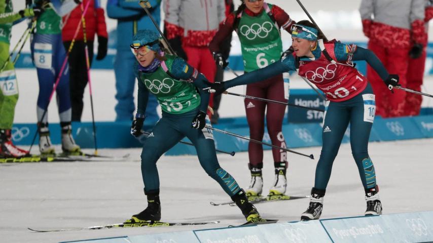 Женская сборная Украины назвала состав нарешающую биатлонную гонку Олимпиады