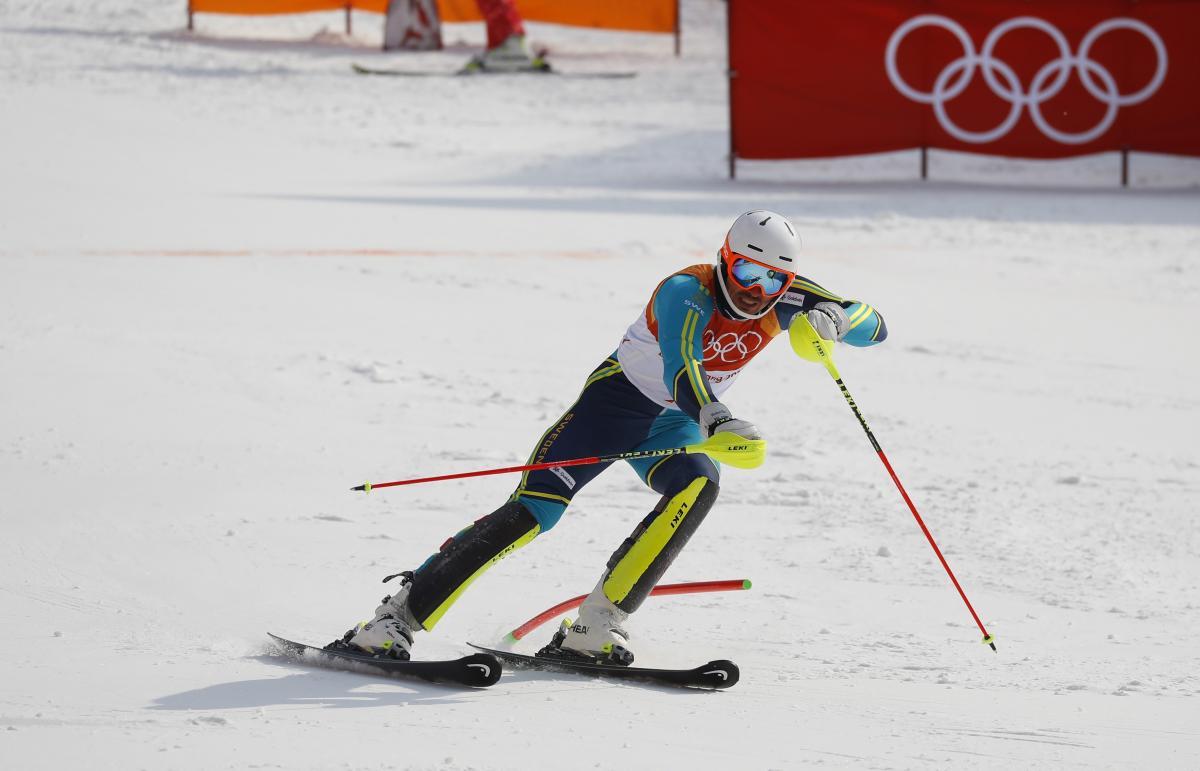 Швед Мюрер принес своей команде золото Игр в горнолыжном слаломе / Reuters