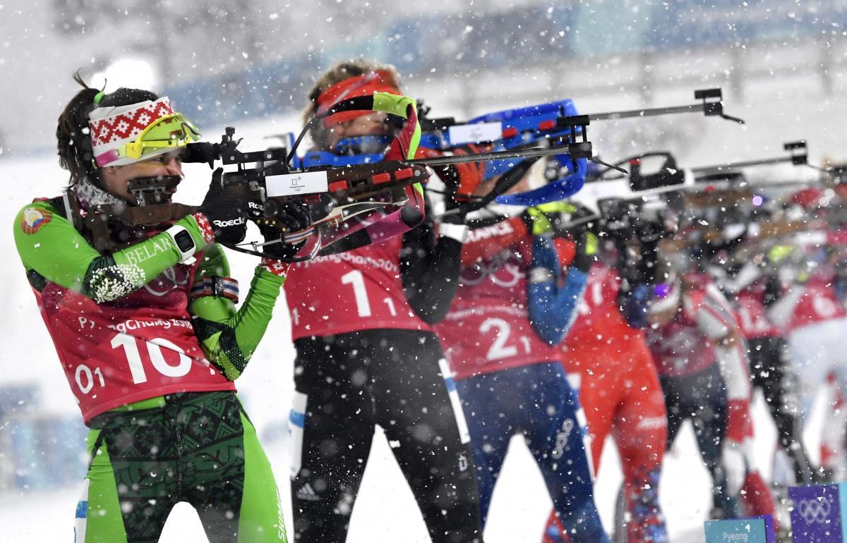 Надежда Скардино начинала победную эстафетную гонку сборной Беларуси в Пхенчхане / Reuters