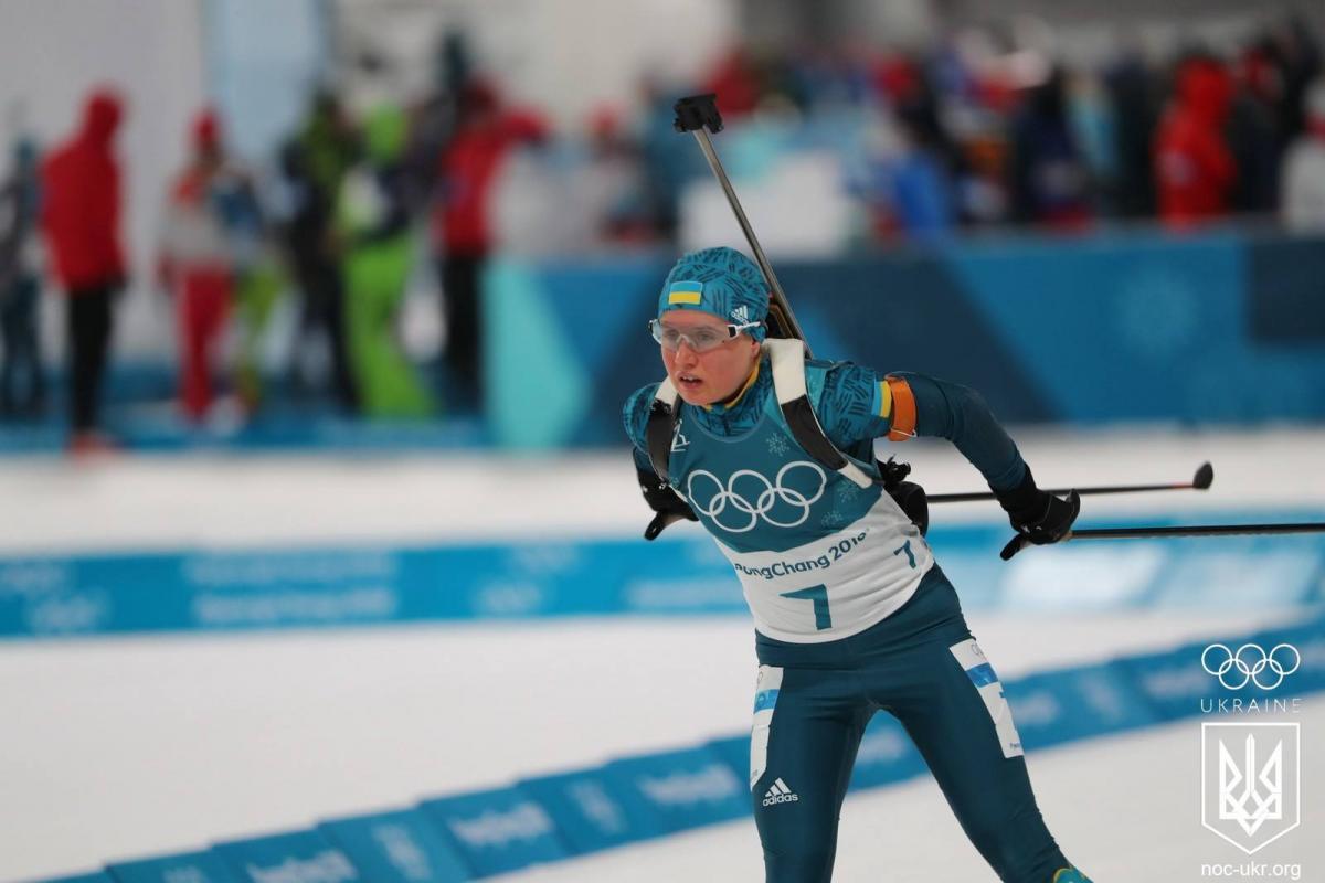 Меркушина стала лучшей из украинок в гонке преследования / НОК Украины