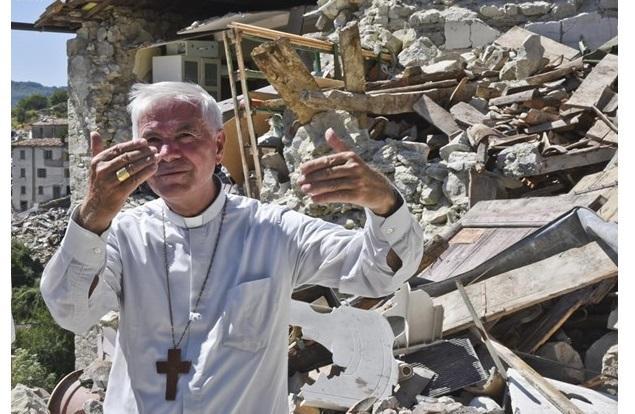 Церковь была разрушена землетрясением в августе 2016 года / radiovaticana.va