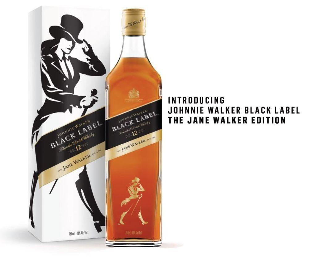 Планируется выпустить 250 тысяч бутылок Jane Walker / фото Diageo