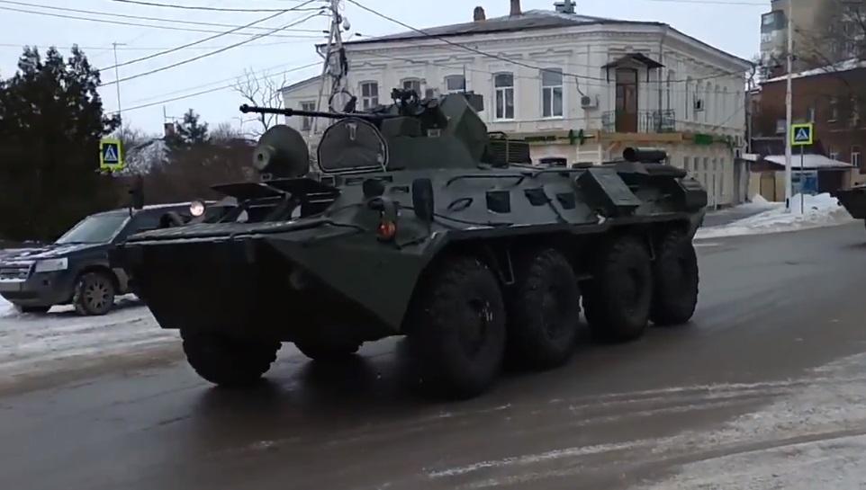 Колона рухалася Новочеркаськом / Скріншот