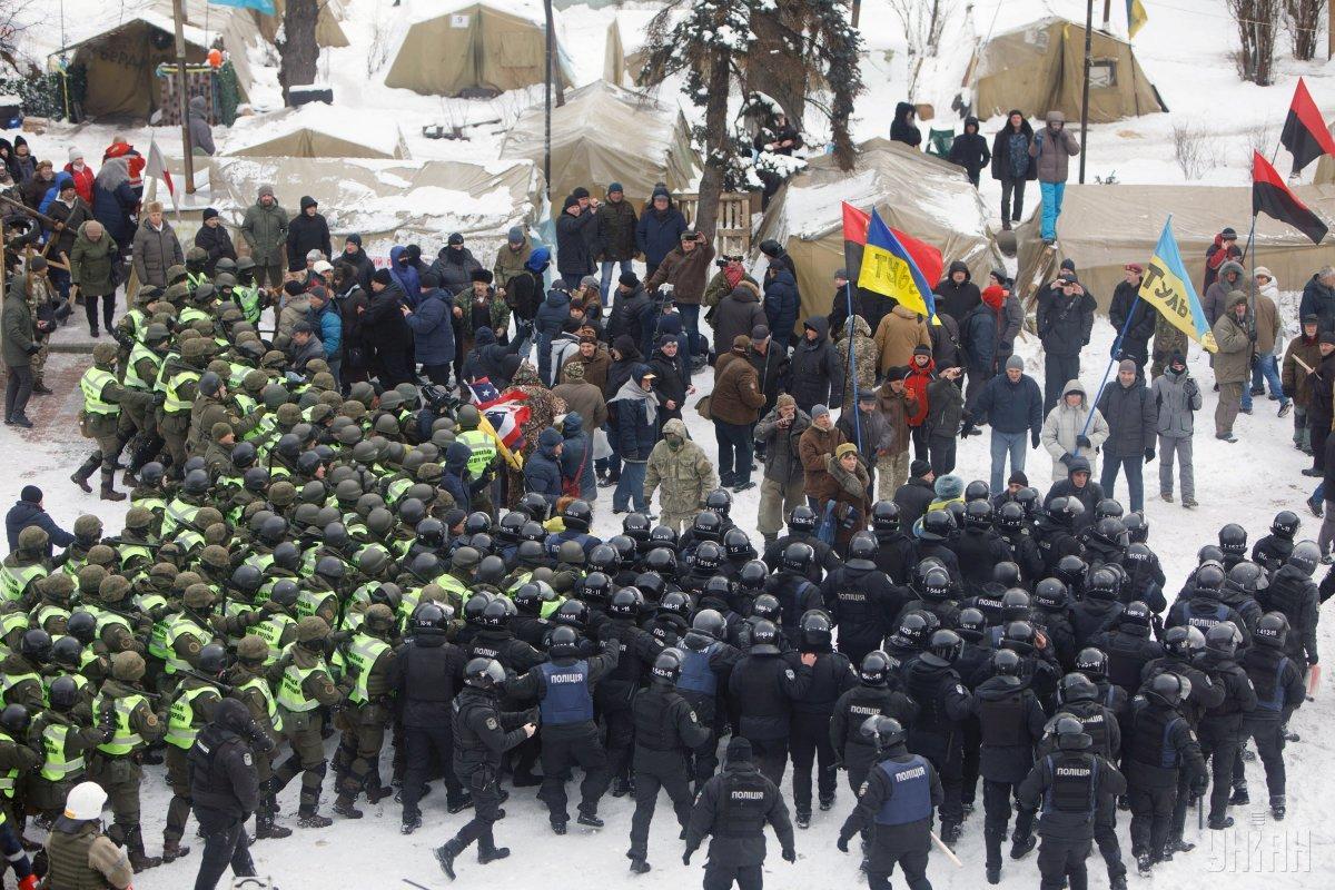В МВД не уточнили, есть раненые среди митингующих / фото УНИАН