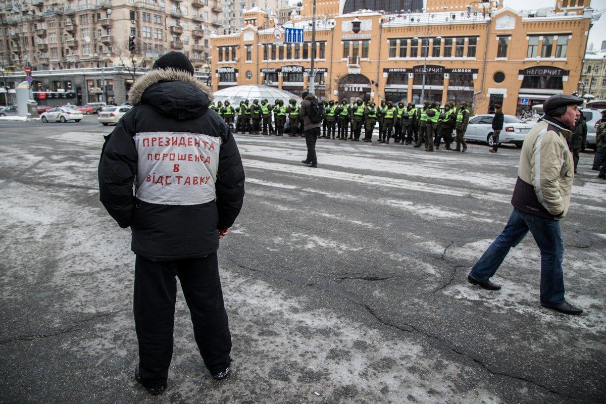 Центр Киева перекрыли активисты / Twitter, Andriy Dubchak