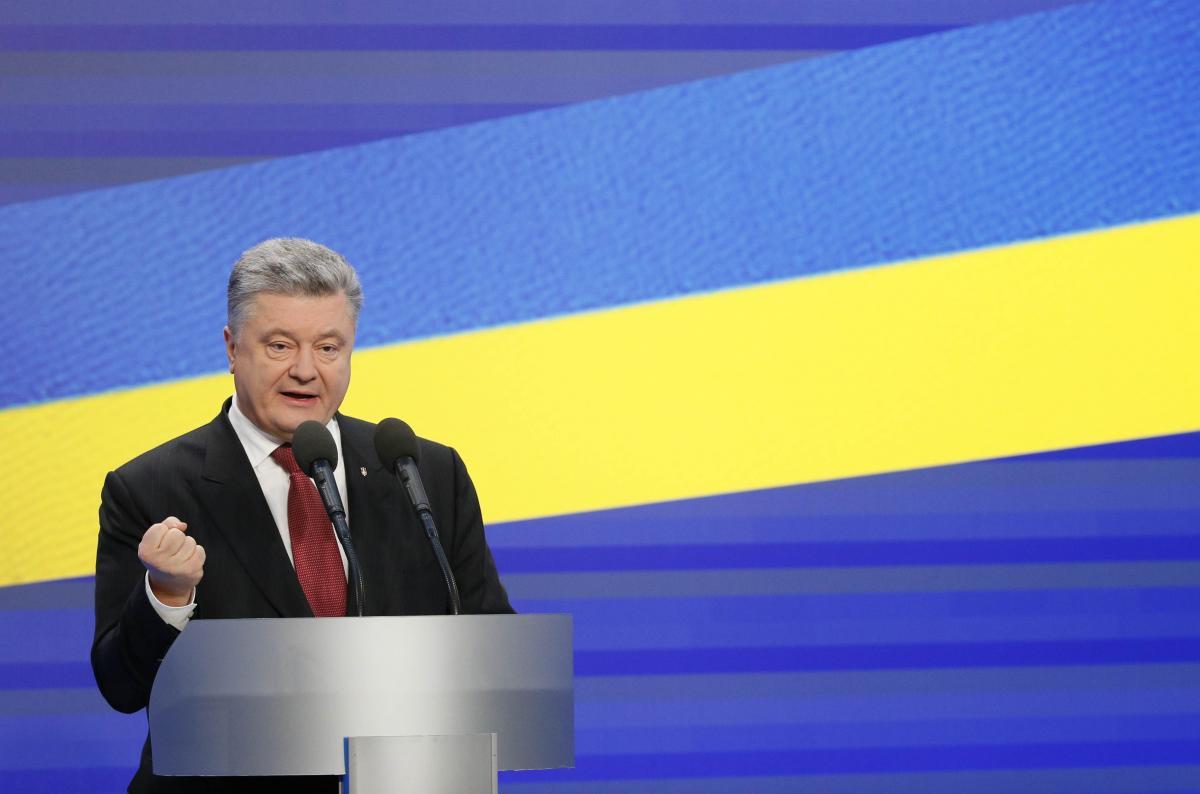 Петр Порошенко во время пресс-конференции / REUTERS