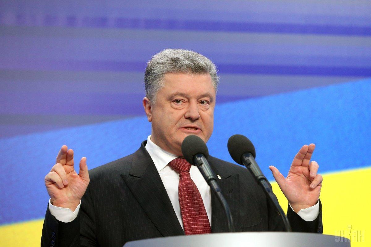 Порошенко сьогодні дав трьом українським телеканалам / фото УНІАН