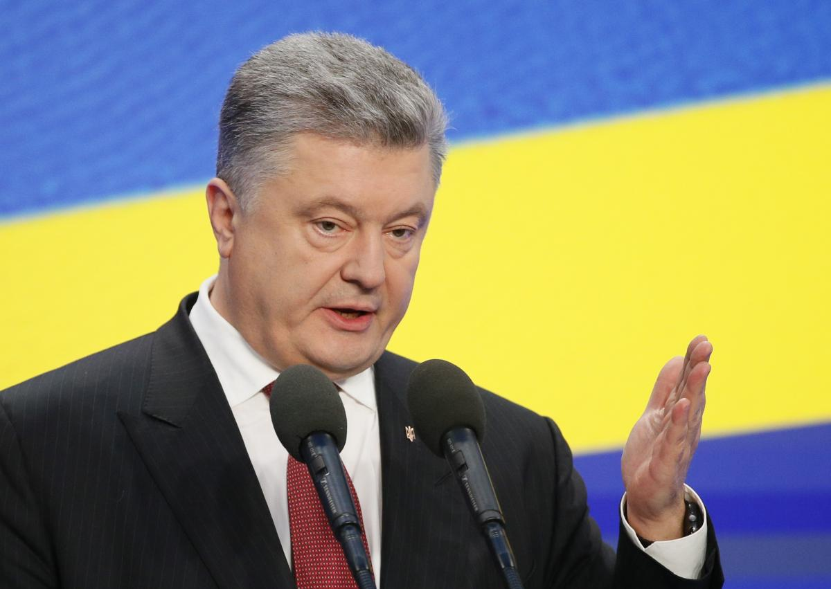 Петр Порошенко на пресс-конференции 28 февраля в Киеве / REUTERS